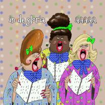 Verjaardagskaarten - Verjaardagskaart Het dameskoor