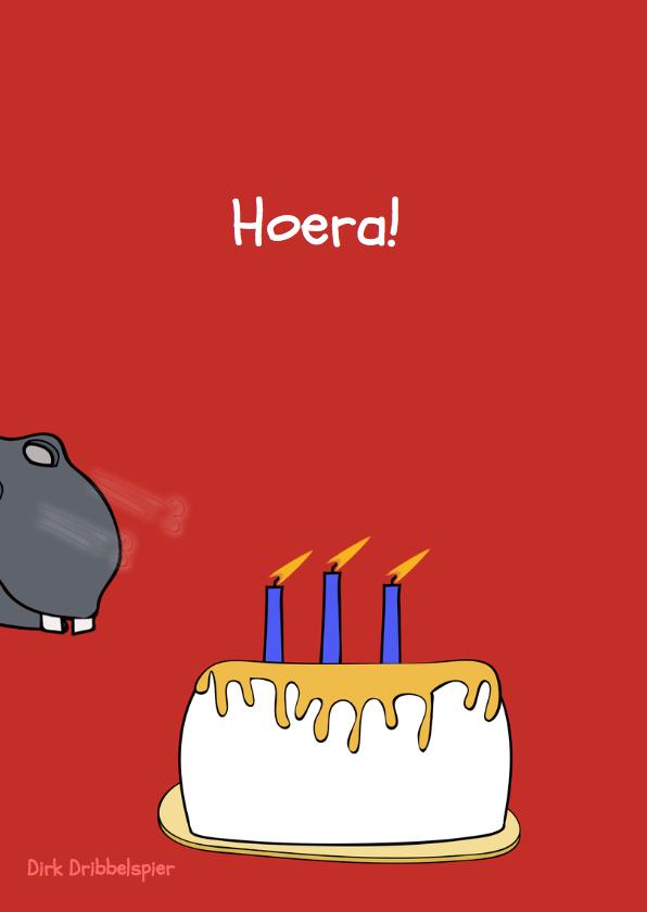 Verjaardagskaart Hippo Birthday! 2