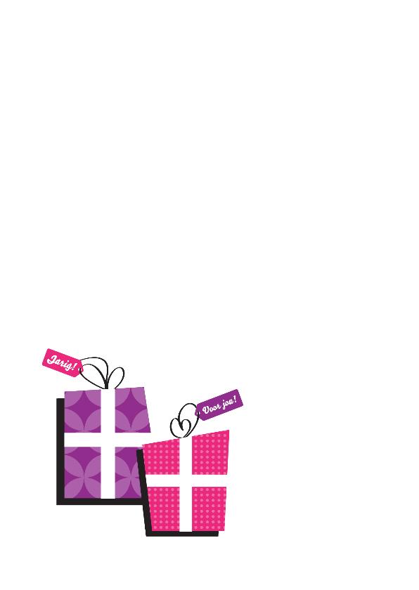 Verjaardagskaart hoera cadeautjes 2