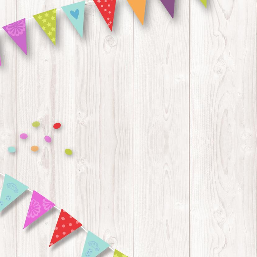 Verjaardagskaart hout vlag av 2