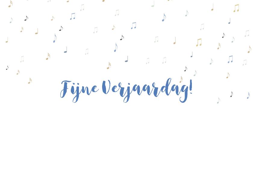 Verjaardagskaart HY blauw met orkest 3