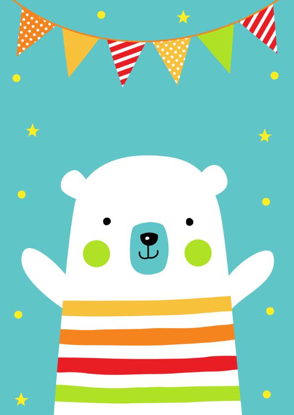 Verjaardagskaart ijsbeer slinger 2