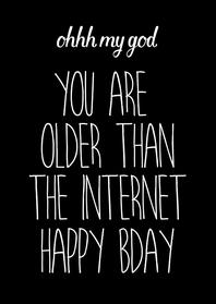 Verjaardagskaarten - Verjaardagskaart internet quote