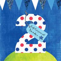 Verjaardagskaarten - Verjaardagskaart jongen 2 jaar