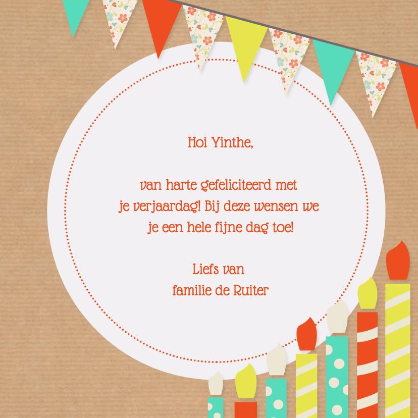 Verjaardagskaart kaarsjes - DH 3