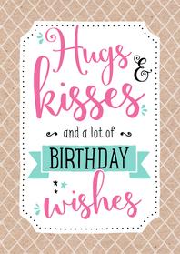 Verjaardagskaart Kisses