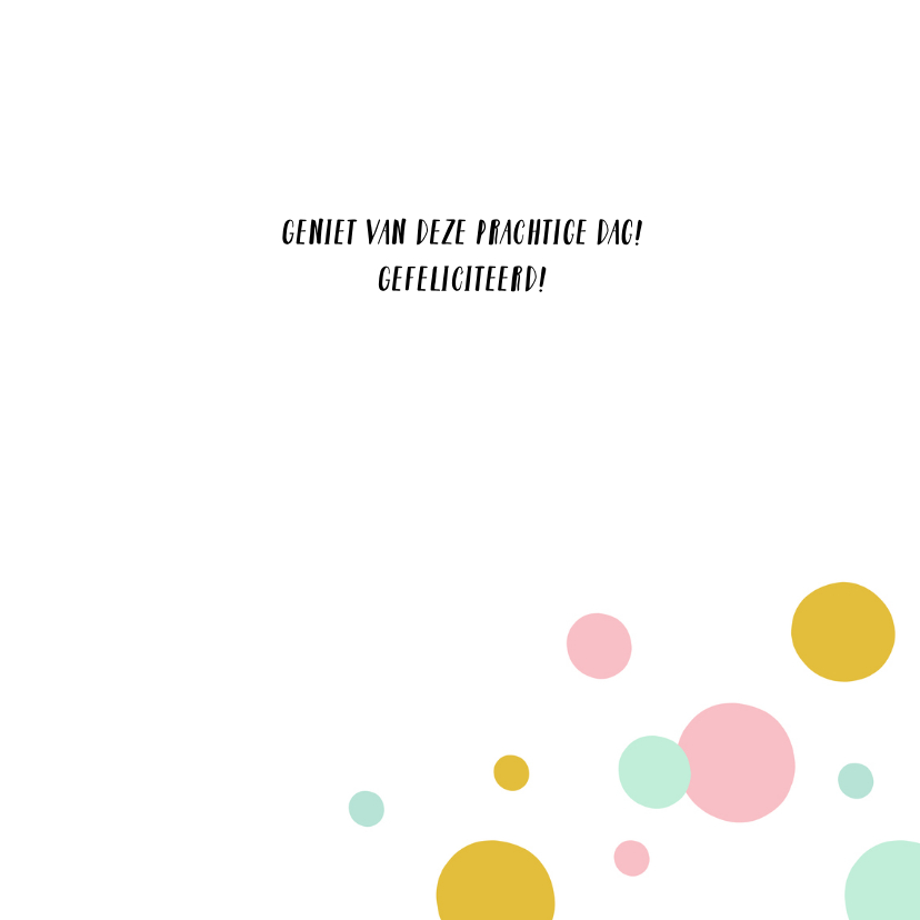 Verjaardagskaart kleurrijk confetti 3