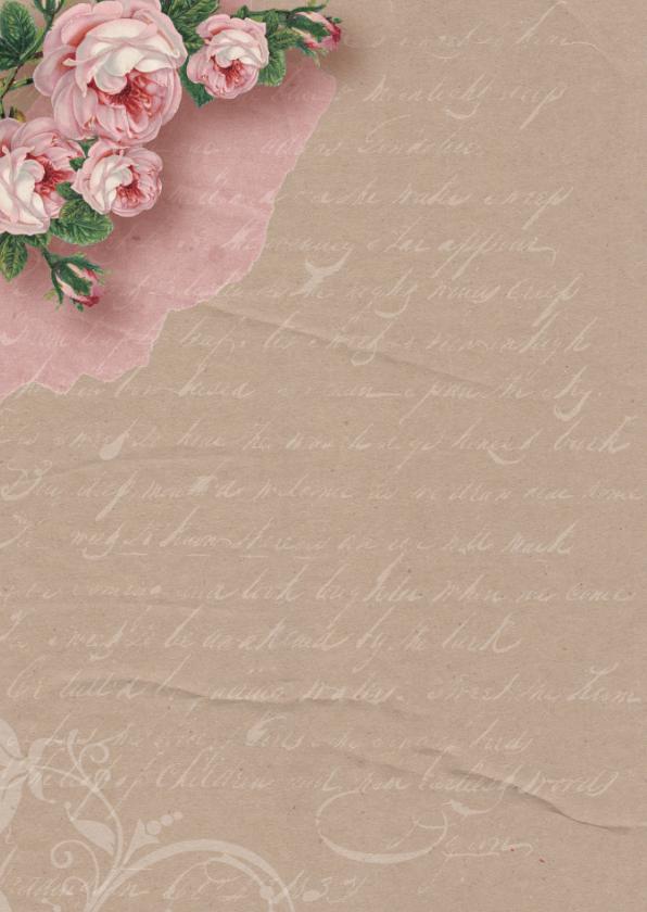 Verjaardagskaart kraftlook rozen 2