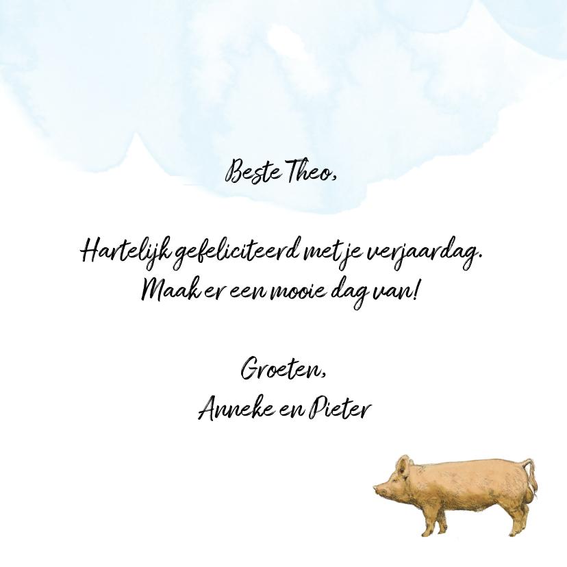 Verjaardagskaart Lang Leve de Boerderij Feestvarken 3