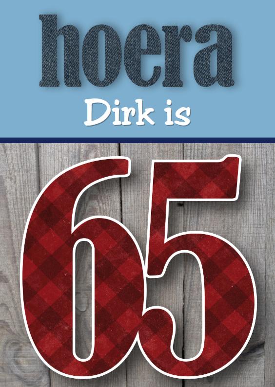 Genoeg Verjaardagskaart man stoer 65 - Verjaardagskaarten - Kaartje2go CF41