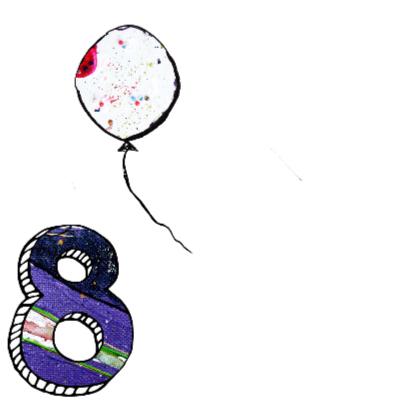 verjaardagskaart meisje 8 jaar 2