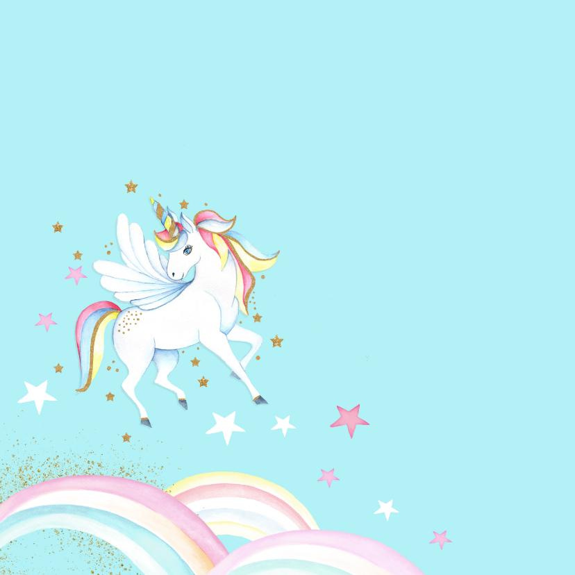 Verjaardagskaart met een hippe unicorn  2