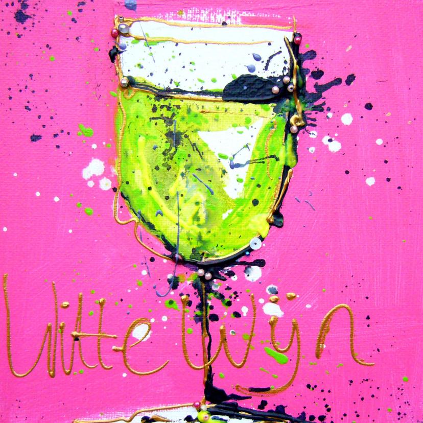 verjaardagskaart met witte wijn 2