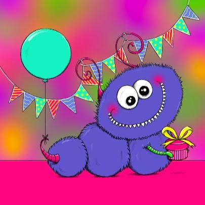 Verjaardagskaart Monshi 1 - IH 3