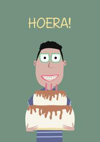Verjaardagskaarten - Verjaardagskaart Nourdin!
