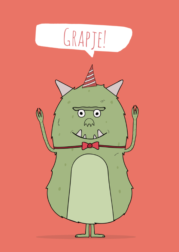 Verjaardagskaart op z'n kop! 2