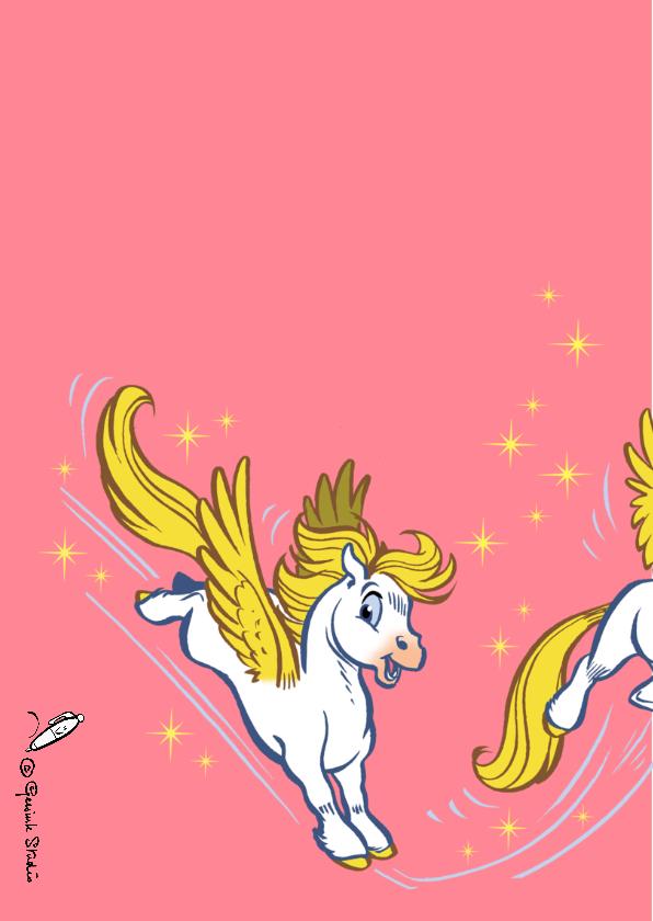 Verjaardagskaart paard Florian 2 - A 2