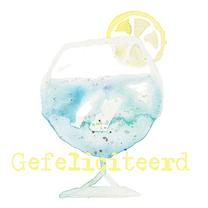 Verjaardagskaarten - verjaardagskaart pastel cocktail