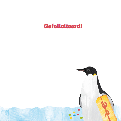 Verjaardagskaart pinguins 3