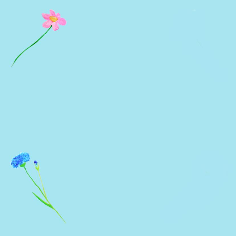 Verjaardagskaart Romantischblauw 2