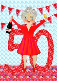 Verjaardagskaarten - Verjaardagskaart Sarah PA