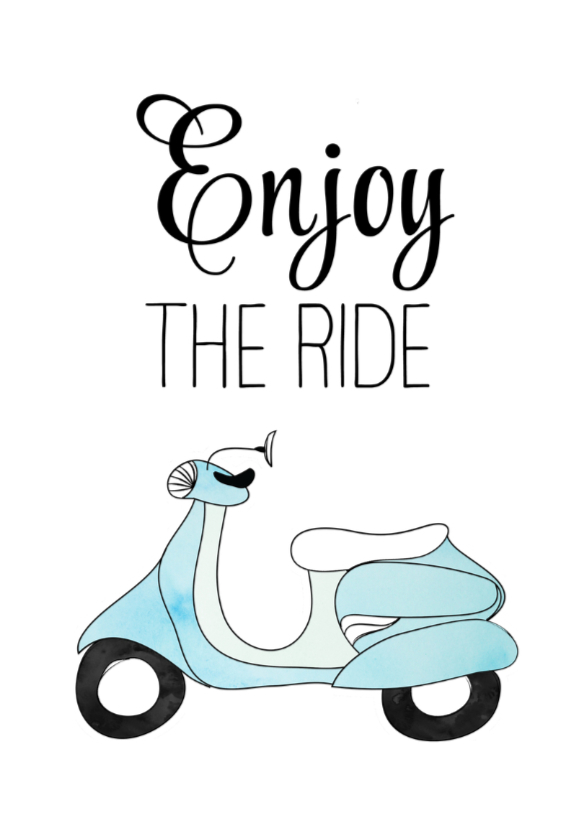 Verjaardagskaart scooter SG 2
