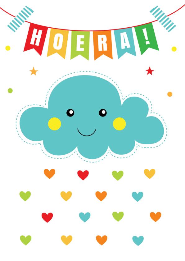 Verjaardagskaart slinger wolkje blauw 2