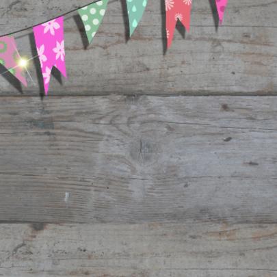 Verjaardagskaart sloophout vlag 2