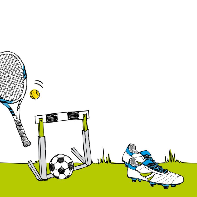 Verjaardagskaart sportief 2