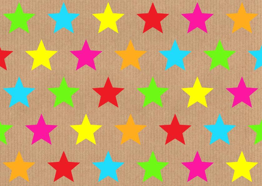 Verjaardagskaart sterren kraft labelprint 2