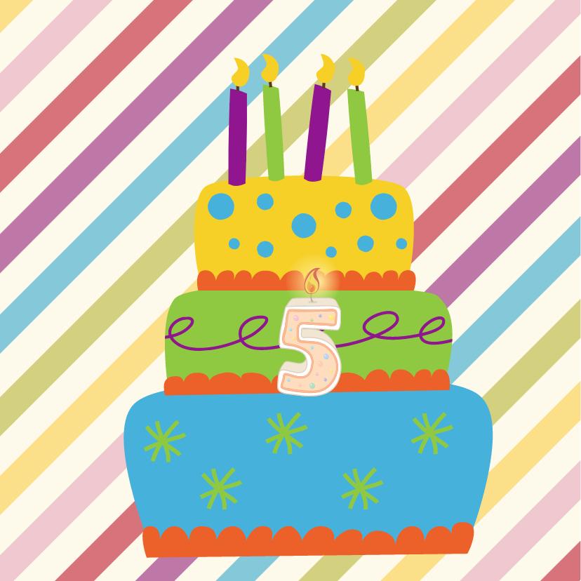 Verjaardagskaart taart - JH 2