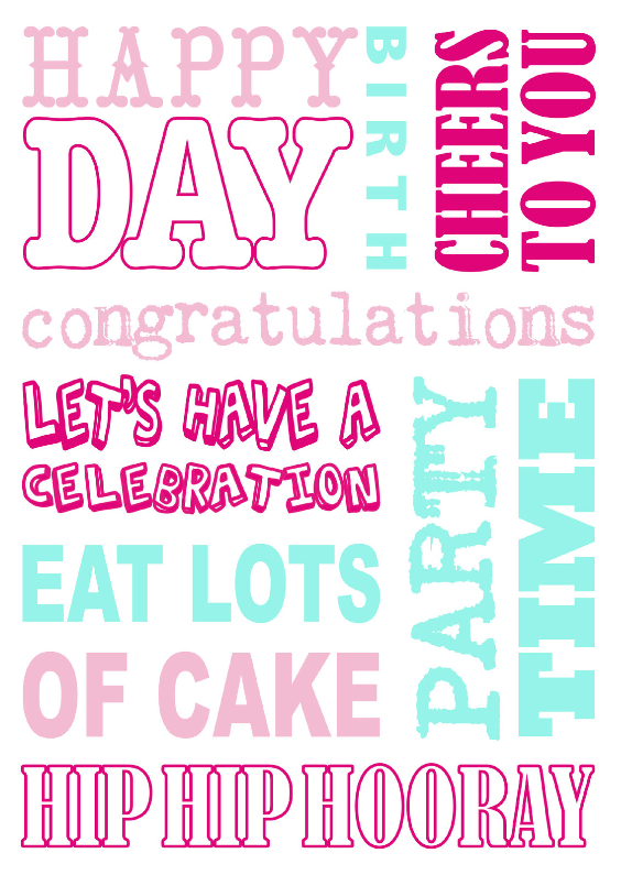 Verjaardagskaart Tekst Roze Mint Verjaardagskaarten