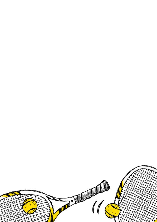 Verjaardagskaart tennisrackets 3
