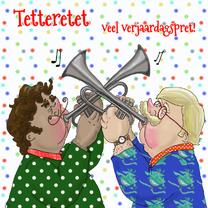 Verjaardagskaarten - Verjaardagskaart Trompet