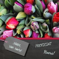 Verjaardagskaarten - Verjaardagskaart tulpen mix