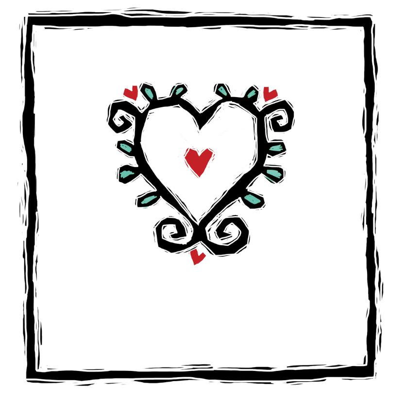 Verjaardagskaart van harte lino 2