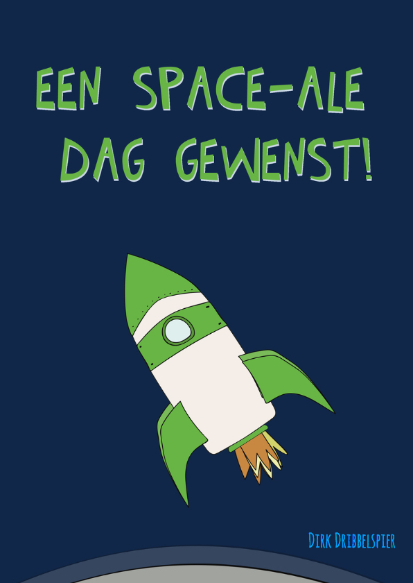 Verjaardagskaart vanuit de ruimte! 2