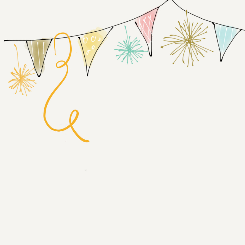 Verjaardagskaart Vlag Vierkant 2