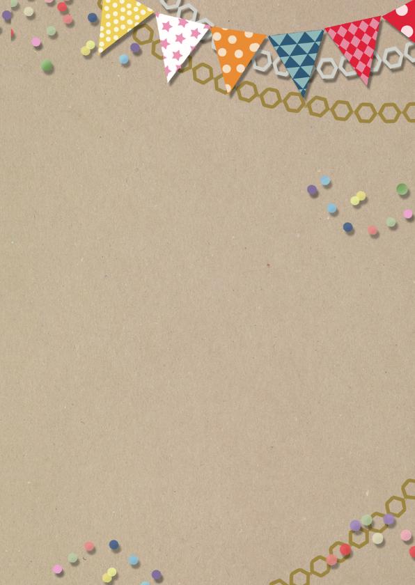 Verjaardagskaart vlaggen confetti 3