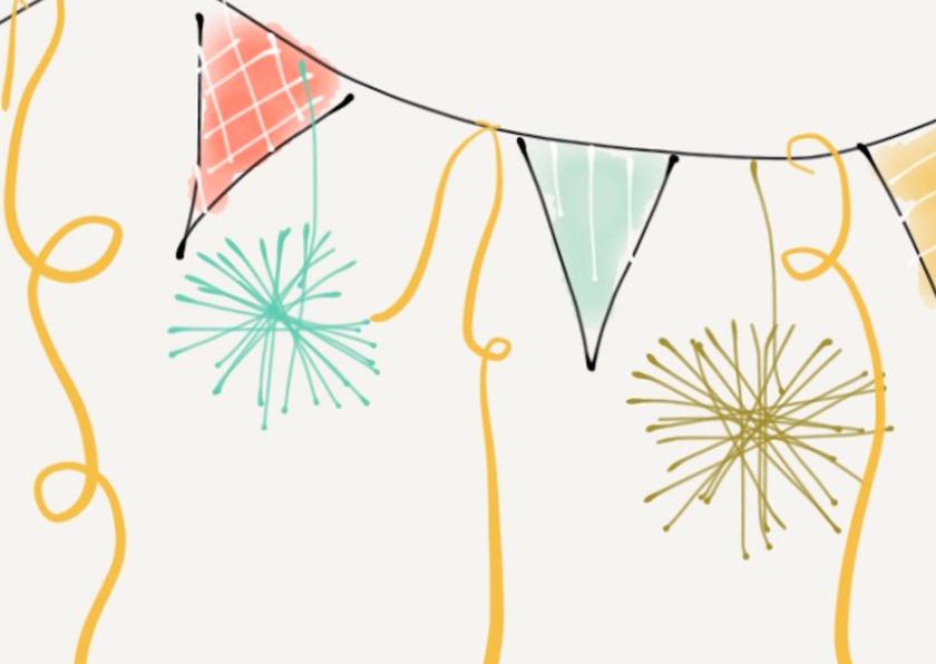 Verjaardagskaart Vlaggetjes 2