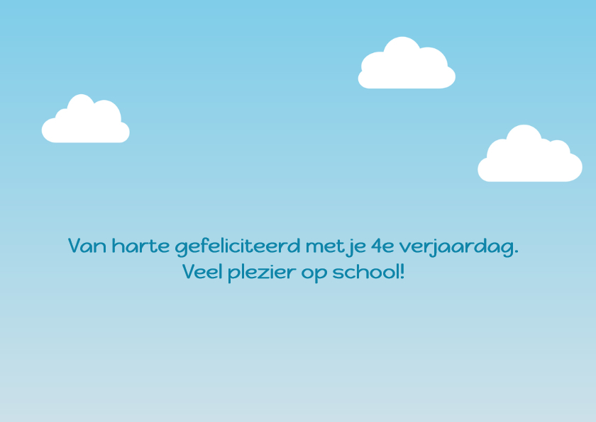 verjaardagskaart vogel jongen gaat naar school - DD 2
