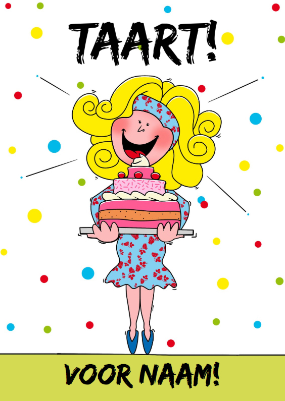 Verjaardagskaart Meisje