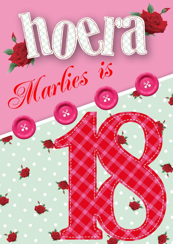 Verjaardag 18 Jarige.Cadeau Voor 18 Jarige Vriend