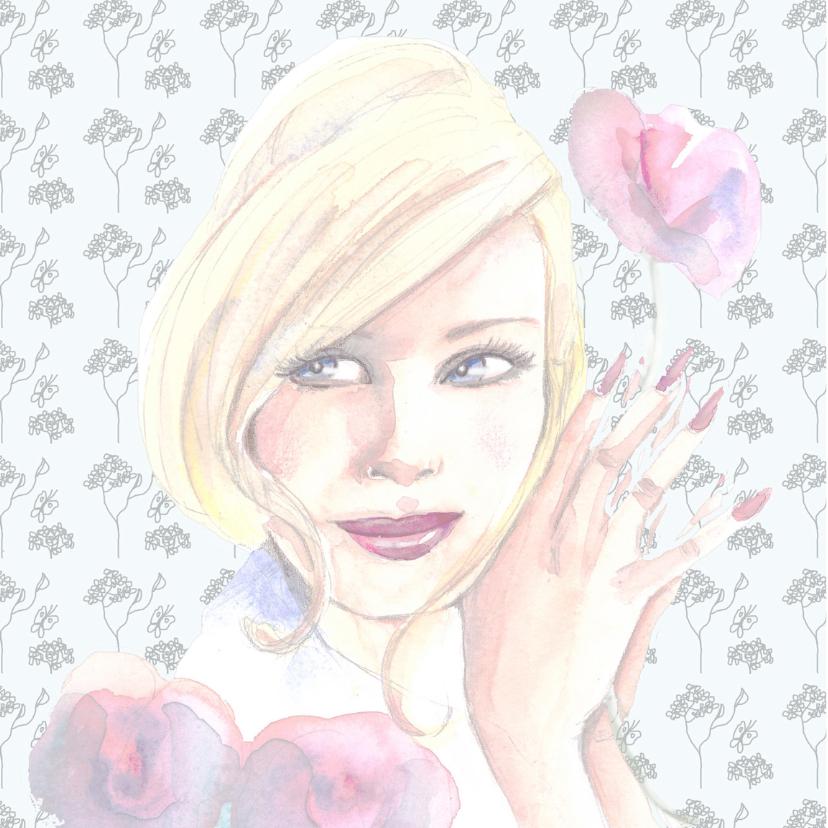 Verjaardagskaart vrouw bloem 2