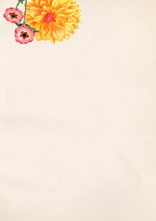 Verjaardagskaart vrouw Botanisch 2