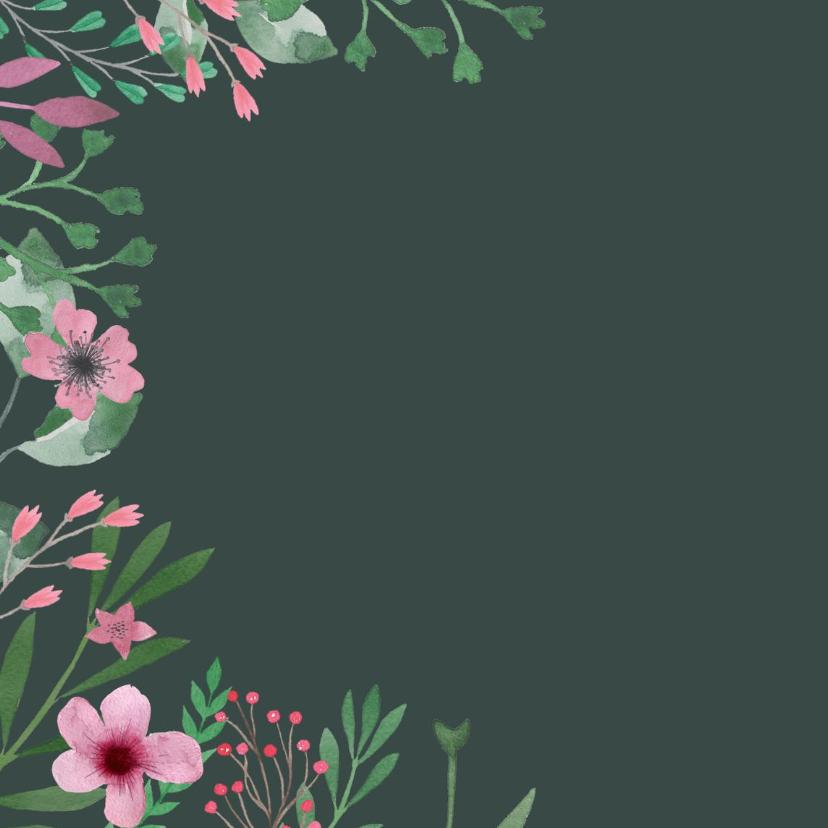 Verjaardagskaart waterverf roze 2
