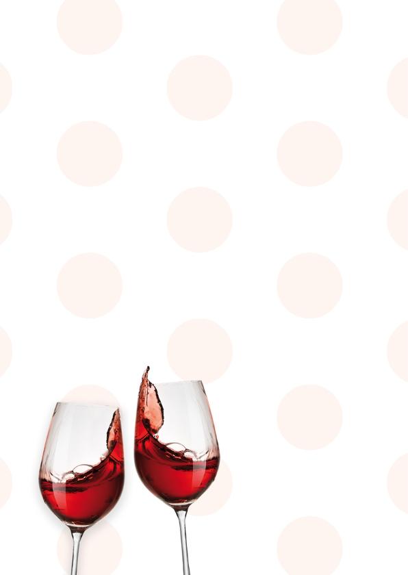 Verjaardagskaart wijn stippen 2