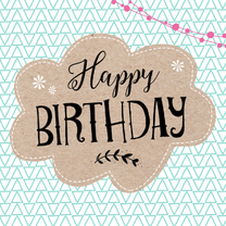 Verjaardagskaarten - Verjaardagskaart Wolk