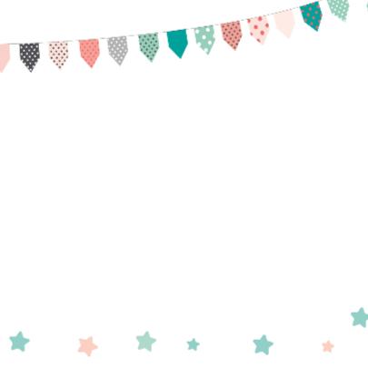 Verjaardagskaart wolkje hoera 2