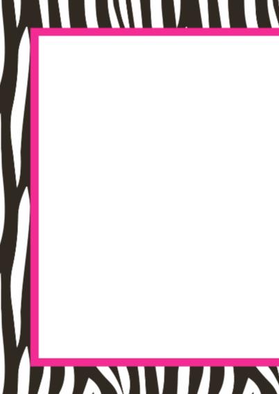Verjaardagskaartje Zebra Roze 2